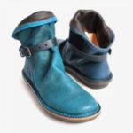Оригинал              Женская ретро кожаная пряжка Ремень с круглым носком на плоской подошве Ботинки