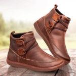 Оригинал              Классический шить сплошной цвет скольжения устойчивостью лодыжки Ботинки