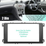 Оригинал              2 Din Авто Радио Стерео Радио Панель лицевой панели Пластина Рамка для Ford Focus II Kuga S-Max Galaxy II