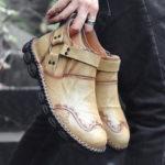 Оригинал              Менико Ретро Ferrule Украшение Ручной Шить Ботинки