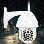 Оригинал              GUUDGO 21 LED IP камера 8X Увеличить WiFi Dome Видеонаблюдение камера Полноцветное ночного видения IP66 Водонепроницаемы Поворот панорамирования / накл