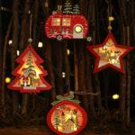 Оригинал              Новогоднее украшение полые деревянные Кулон Night Light Tree Висячие украшения