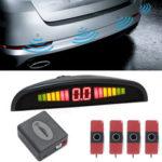 Оригинал              16,5 мм плоский Датчик Авто Система парковки заднего хода Передний задний радарный детектор с LED Дисплей