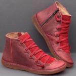 Оригинал              Женщины Удобные устойчивые плоские повседневные Ботинки