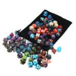 Оригинал              105 шт. Кости Набор многогранных Костиs 7-цветная ролевая настольная игра с однотонной игрой Кости