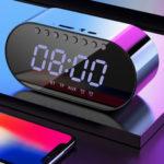 Оригинал              LyRay Wireless Bluetooth 4.2 Портативный динамик Двойная сигнализация Часы FM Радио Бас Двойной динамик