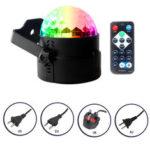 Оригинал              7 цветов LED Диско-шар DJ Party Stage Light Звук активирован Дистанционное Управление