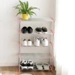 Оригинал              4 слоя DIY стеллажей для хранения из нержавеющей стали Органайзер для общежития
