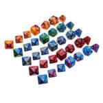 Оригинал              35шт акриловые многогранные Кости набор ролевые игры Костиs гаджет для подземелий драконов D20 D12 D10 D8 D6 D4 игры