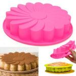 """Оригинал              9 """" Силиконовый Цветочный торт Шоколадный хлеб Форма для выпечки Форма для выпечки кекса Форма для выпечки Инструмент"""