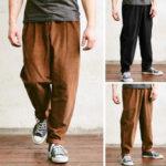 Оригинал              Мужские шнурованные вельветовые брюки Smart Casual Свободные брюки Формальные прямые Брюки US