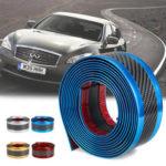 Оригинал              Наклейки на автомобиль из углеродного волокна синий резиновый подоконник протектор края защитная полоса 5 см * 3 м