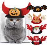 Оригинал              Pet Шапка Собака Halloween Christmas Headgear Кот Прикольные Принадлежности для Головных Уборов