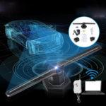 Оригинал               3D 224 LED Голограмма Проектор Вентилятор WI-FI Голографический Дисплей Плеер рекламы Свет этапа