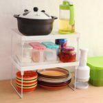 Оригинал              Складные стеллажи Home Ванная комната Стеллажи для кухонных стеллажей Полочные держатели Органайзер