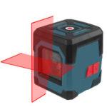 Оригинал              HANMATEK LV1 Лазер Линия пересечения уровня Лазер с диапазоном измерения 50 футов, самовыравнивающейся вертикальной и горизонтальной линией