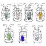 Оригинал              Новые Стеклянные трубы H ookah Craft Mini Четырехсторонние четыре черепа Маленький стеклянный череп H ookah