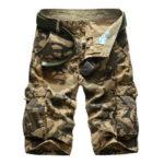 Оригинал              Мужские шорты с камуфляжным принтом и несколькими карманами, с пятью точками, Брюки Travel Sport Hunting