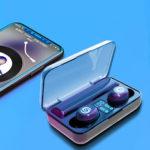Оригинал              Bakeey F9 bluetooth 5.0 Digital LED Дисплей TWS Наушник Наушники с сенсорным управлением True Wireless Наушники с зарядкой 2000 мАч Коробка