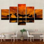 Оригинал              5 ШТ. Большой Огромный Современный Wall Art Масло Живопись Картины Печати Без Рамы Home Decor Стикер Стены