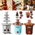 Оригинал              4 яруса 170 Вт шоколадное фондю создатель фонтана с подогревом плавления Рождество фондю машина