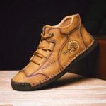 Оригинал              Урожай ручной вышивки Soft Бизнес Повседневная лодыжка Ботинки