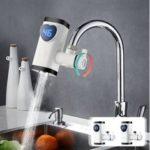 Оригинал              Электрический кран для горячей воды Нагреватель Горячая вода быстрого приготовления LED Показать кран быстрого нагрева для домашней кухни
