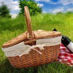 Оригинал              Wicker Hand Кемпинг Корзина для хранения корзин для пикника с ручкой крышки