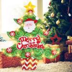 Оригинал              LED Кулон Санта-Клаус Висячие Украшения со Струнным Светом для Праздника Дома Украшения Елки