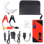 Оригинал              JX31 Дисплей 98600 мАч 12 В Авто Jump Starter Портативный USB-банк аварийного питания Батарея Booster Зажим 1000A Порт постоянного тока Красный