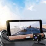 Оригинал              7 дюймов 1080P HD Dual Объектив Авто Видеорегистратор камера Видеорегистратор Видеорегистратор GPS G-Sensor