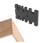 Оригинал              Drillpro дюймов / MM Деревообрабатывающий фрезерный станок для шипования и врезания Угловой шаблон для торцовочного станка Прямоугольная пила
