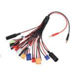 Оригинал              20-в-1 многофункциональный кабель зарядного устройства 4 мм Banana Pklug для XT60 XT90 EC3 EC5 Tamiya для B6 B6AC PL6 PL8 зарядное устройство