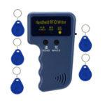 Оригинал              Портативный 125 кГц LED RFID ID Key Card Writer Копир Считыватель Дубликатор + 5 меток