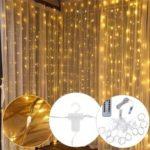 Оригинал              3 м * 3 м USB 300 LED занавес строки света с 10 крючками для На открытом воздухе фестиваль декора рождество Свадебное DC5V