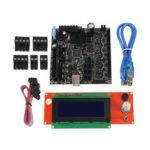 Оригинал              Клонированная материнская плата RAMBo 1.4 All On One Интегрированная печатная плата с 2004 г. LCD Дисплей Для части 3D-принтера