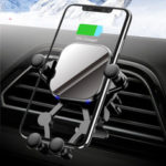 Оригинал              Bakeey15WQiБеспроводноезарядноеустройство Gravity Linkage Вентиляция Авто Держатель телефона для 4,5-6,8-дюймового смартфона для iPhone 11 для Samsung Galaxy