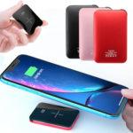 Оригинал              Bakeey 20000mAh Qi Беспроводное зарядное устройство LED Дисплей Mini Power Bank Быстрая зарядка для iPhone Android