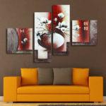 Оригинал              Ваза для цветов принт картины картина без рамы висит на стене домашнего декора