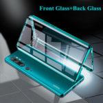 Оригинал              Bakeey 360 ° Изогнутый передний + задний двухсторонний полный корпус 9H Закаленное стекло Металл Магнитная адсорбционная защитная панель Чехол