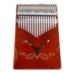 Оригинал              17-тиклавишныйPinetreeWoodКалимбаThumb Piano Finger Перкуссия с настройкой Hammer