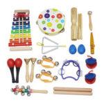 Оригинал              SY-60 Набор музыкальных инструментов Orff из 19 предметов Детский просветительский инструмент раннего образования