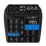 Оригинал              110-220 В 4-канальный Bluetooth Mini Audio Mixer Микшерный пульт Усилитель 48 В Phantom Мощность