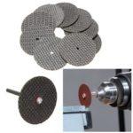 Оригинал              50шт черный режущий диск 32 мм с 2 оправками для Дремель поворотных Инструмент комплект