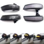 Оригинал              Пара Динамических Дверных Крыльев Зеркала LED Указатель поворота Фонарь Янтарный Для Ford Focus MK2 MK3 Mondeo MK4