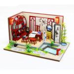 Оригинал              Хонгда S921 DIY Кабина Ink Bamboon на ветру Ручная сборка Кукла Модель дома Игрушка