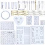 Оригинал              229Pcs DIY Браслет Кулон Эпоксидная смола Силиконовый Mold Set Ювелирные изделия Кулон Mold