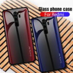 Оригинал              Bakeey Carbon Fiber Gradient Color Закаленное стекло Защитное Чехол для Xiaomi Redmi Note 8 Pro