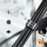 Оригинал              KUULAA 1м 3м 5м Прочный клейкий режущий кабель для намотки кабеля Провод Органайзер Телефон Наушник Линия защиты