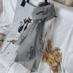 Оригинал              Горячие Продажи Женщин Весенние Кошки Шаблон Дизайн Бали Пряжа Шарфы